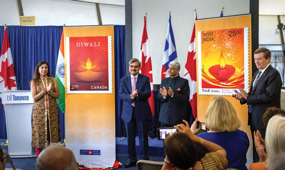 First Joint Stamp Issue for Canada Post and India Post